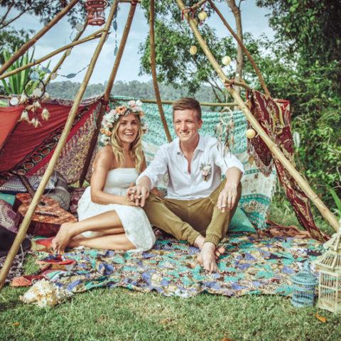 bohemian bali boho wedding canggu